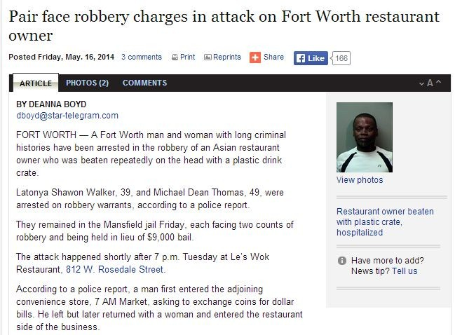 pair face robbery charges in attack on forth worth restaurant owner