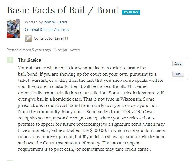 Facts of Bail