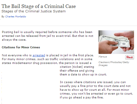 the bail stage of a criminal case